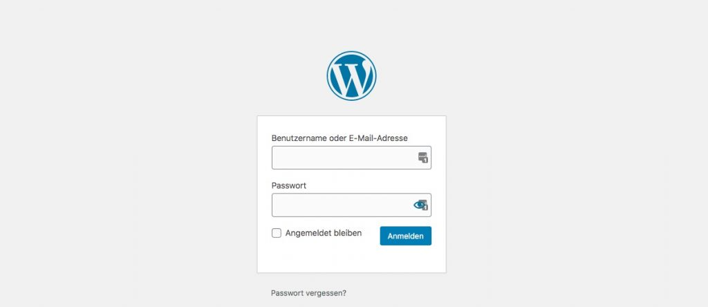 in wordpress blog einloggen